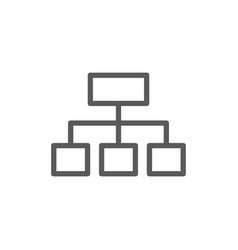 hierarchical graph structure line icon vector image