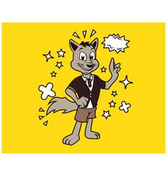hipster fox cartoon t shirt design vector image