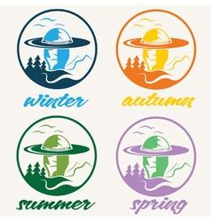 huntsman vintage labels vector image