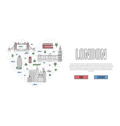 i love london poster in linear style vector image