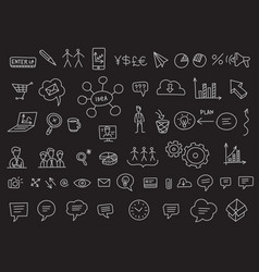 ideas and processes school business icons vector image