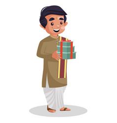 Indian bengali man vector