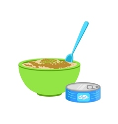 Industrical Canned Puree In Bowl Supplemental Baby vector