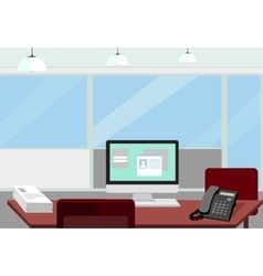 Interior office room for vector image