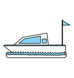 Isolated yacht design vector