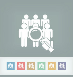 look for person vector image