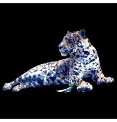 low poly leopard vector image
