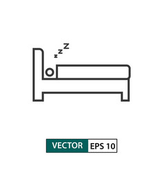 man sleep icon outline style eps 10 vector image