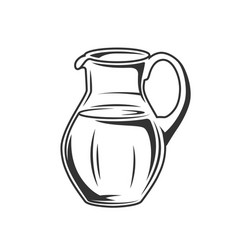 Milk jug isolated on white background vector