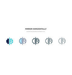 Mirror horizontally icon in different style two vector