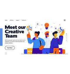modern flat design meet our creative team vector image