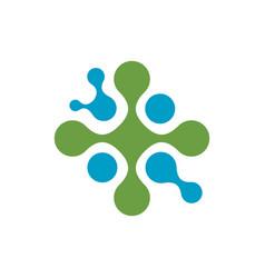 molecule logo design element circle dots abstract vector image