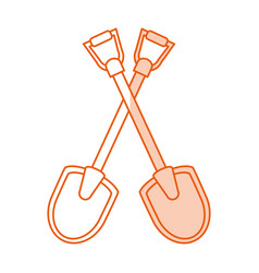Monocromatic shovels design vector