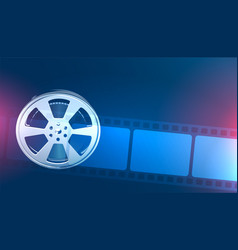 Movie roll and film strip background vector