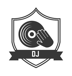 music pictogram vector image