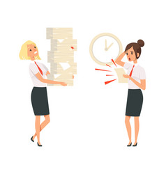 office managers unfulfilled tasks deadline time vector image