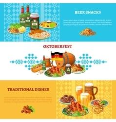 Oktoberfest Flat Horizontal Banners Set vector image