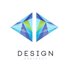 Original logo in modern style geometric vector