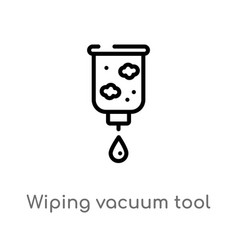 outline wiping vacuum tool icon isolated black vector image
