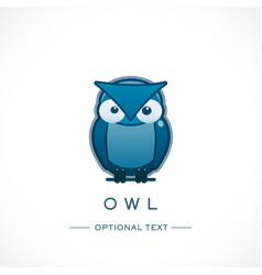 owl design logo template and text vector image