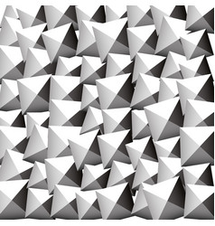 Pattern with random rotated beveled squares vector