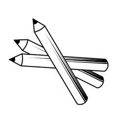 pencil make up design isolated vector image