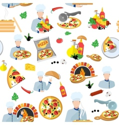 Pizza Maker Seamless Pattern vector