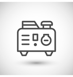 Portable electric generator line icon vector image