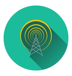 Radio antenna icon vector image