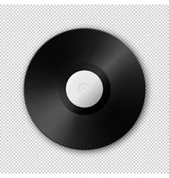 Realistic music gramophone vinyl LP record vector image