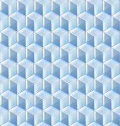 Seamless from blue glass cubes vector