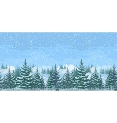 Seamless Winter Forest Landscape vector image