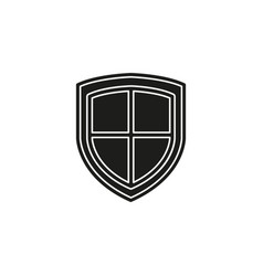 security shield emblem- protection and safety vector image