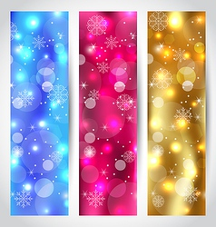 Set Christmas wallpaper with snowflakes vector