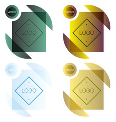 set modern icon design logo element with business vector image