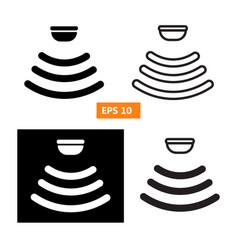 Set of sensor waves signal icon vector