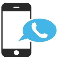 Smartphone Call Balloon Eps Icon vector image