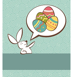 Social Easter bunny with painted egg vector image