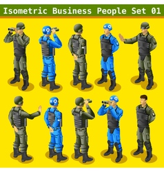 Soldier 01 People Isometric vector