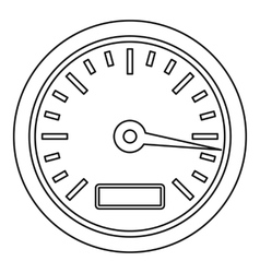Speedometer or gauge icon outline style vector