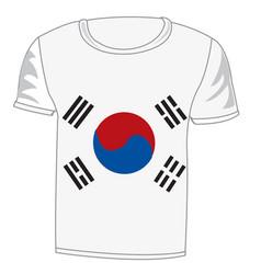 T-shirt flag south korea vector
