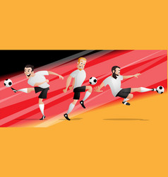 team germany football soccer players set vector image