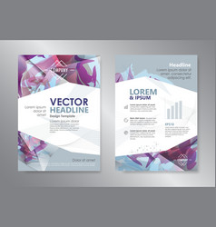 Template polygon abstract design magazine vector