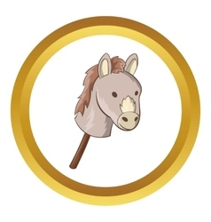 Toy donkey icon vector