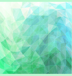 Triangular wavy abstract background green and blue vector