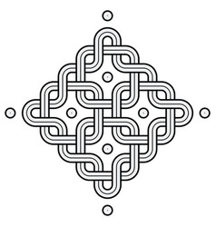 viking decoration knot - chained rounded squares vector image