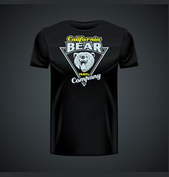 Vintage logo california bear company printed vector