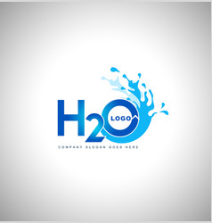 Water logo creative vector