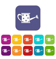 watering can icons set vector image