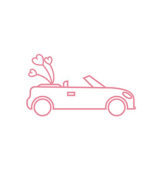 Wedding car icon design template isolated vector